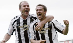 Alan Shearer, left, and Michael Owen are named by Houllier as among the best British players he has seen.