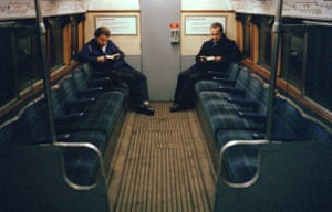 Night train on the Northern line, London, 1989