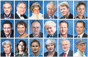 Some of the public figures of the past 20 years to have attended private schools (l-r from top): Tony Blair, former Bank of England governor Eddie George, Princess Diana, Prince Charles, Charles Spencer, businesswoman Martha Lane Fox, Dominic West, James Blunt, former Northern Rock chairman Matt Ridley, Boris Johnson, David Cameron, George Osborne, Jeremy Paxman, fashion journalist Alexandra Shulman, footballer Frank Lampard, Theresa May, Jeremy Corbyn and cricketer Joe Root.