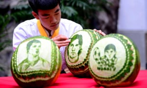 Lionel Messi on a Watermelon