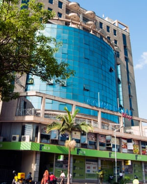 Much of Kampala's commercial downtown has been built to ape the gleaming towers of Dubai.