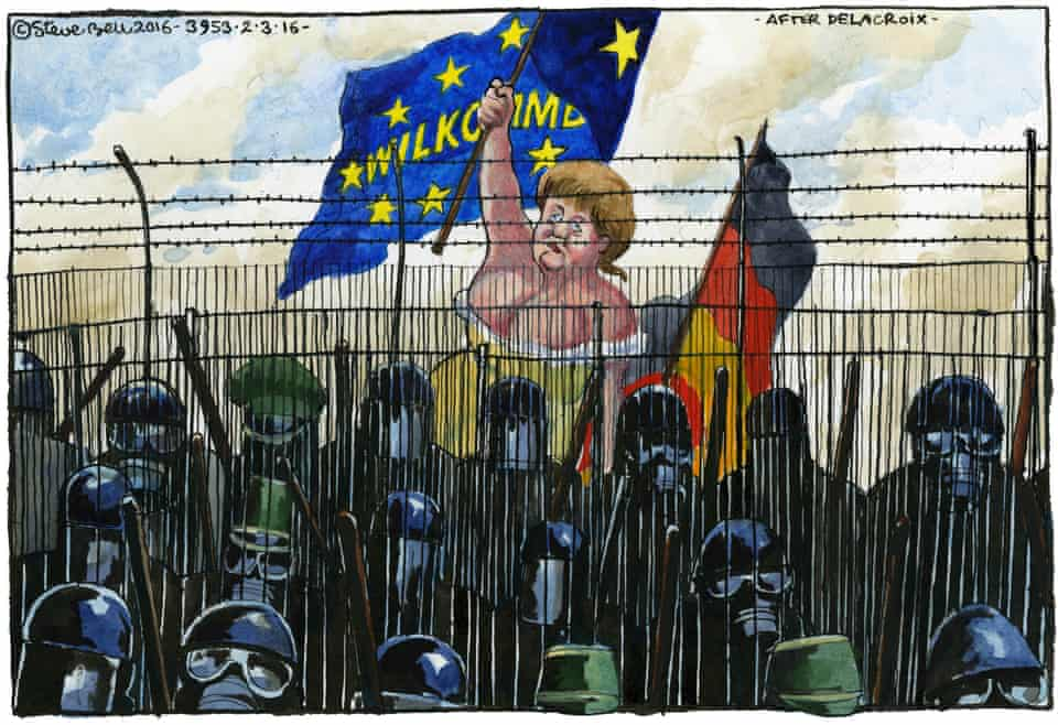 'Instead of closing the borders, in 2015-16 Merkel offered to receive one million new migrants.'