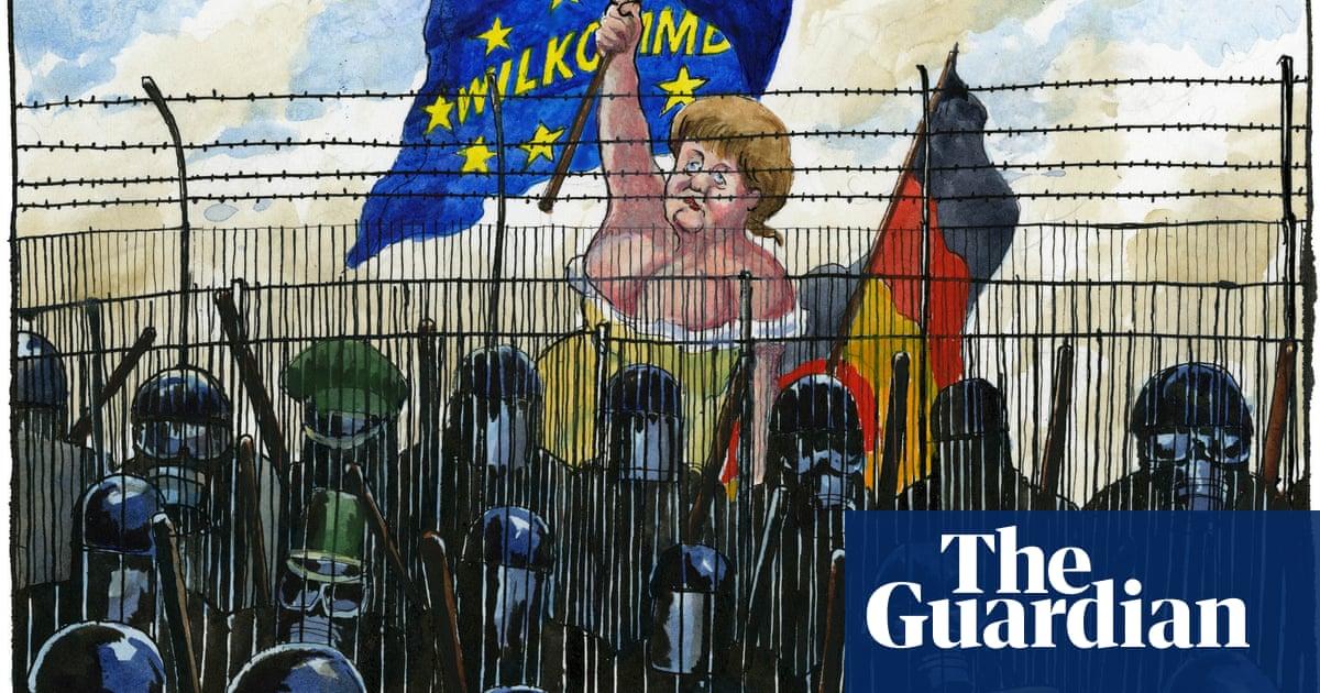 The sorrowful dominatrix: cartoonists Steve Bell and Martin Rowson on drawing Angela Merkel