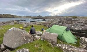 Wild camp at Ardnamurchan Point