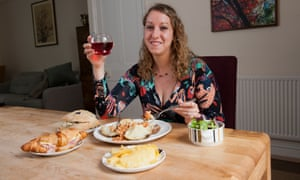 Donna Ferguson enjoys a meal made with food sourced through the Too Good to Go app.