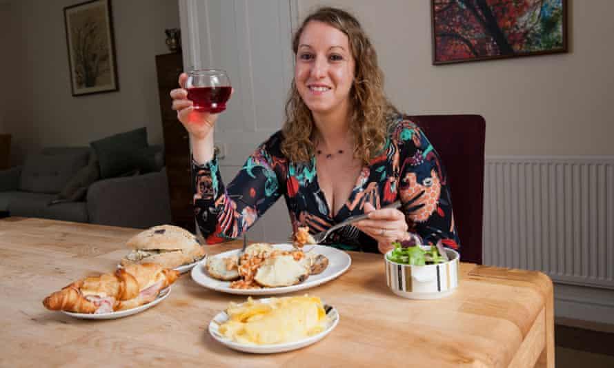 Donna Ferguson enjoys a meal made with food sourced through the Too Good to Go app.