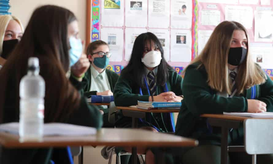 Public Health England 'does not recommend' the use of face masks in schools but Boris Johnson is coming under increased pressure to review that advice.