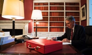 Philip Hammond putting the finishing touches to his speech ahead of the budget on Wednesday