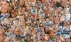 A montage of human faces