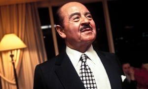 Adnan Khashoggi at his home in New York. He was the model for The Pirate, Harold Robbins' 1974 bestseller, though he was a rather less glamorous figure than the fictional Baydr al Fay.