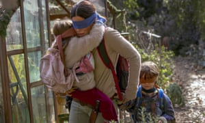 Sandra Bullock in a scene from Netflix's hit film Bird Box.