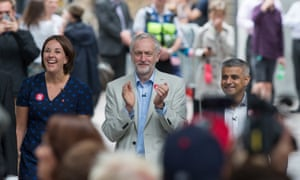 Scottish Labour leader Kezia Dugdale with Jeremy Corbyn and London mayor Sadiq Khan at a remain event the day before last week's EU referendum.
