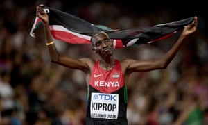Asbel Kiprop said he will no longer battle to prove has innocence 'not because I doped but I take the sacrifice because I support the anti-doping campaign'.