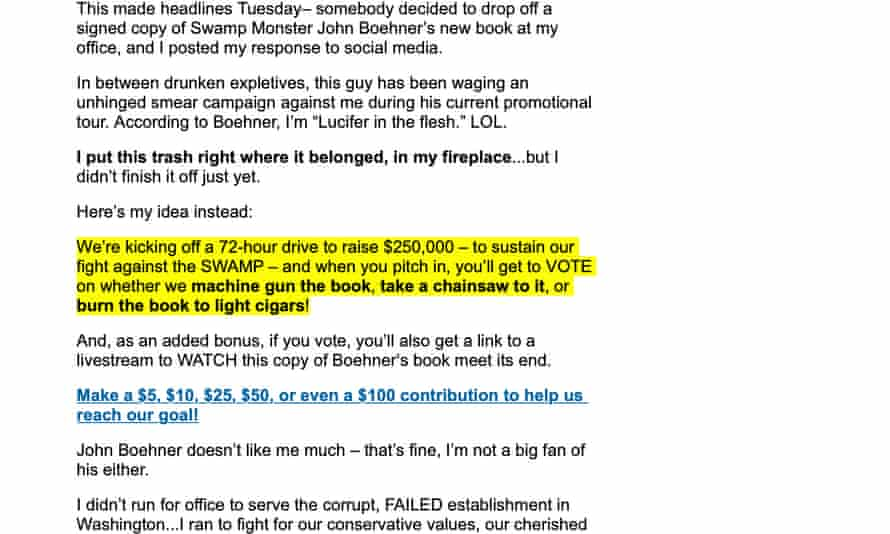 A Ted Cruz fundraising email