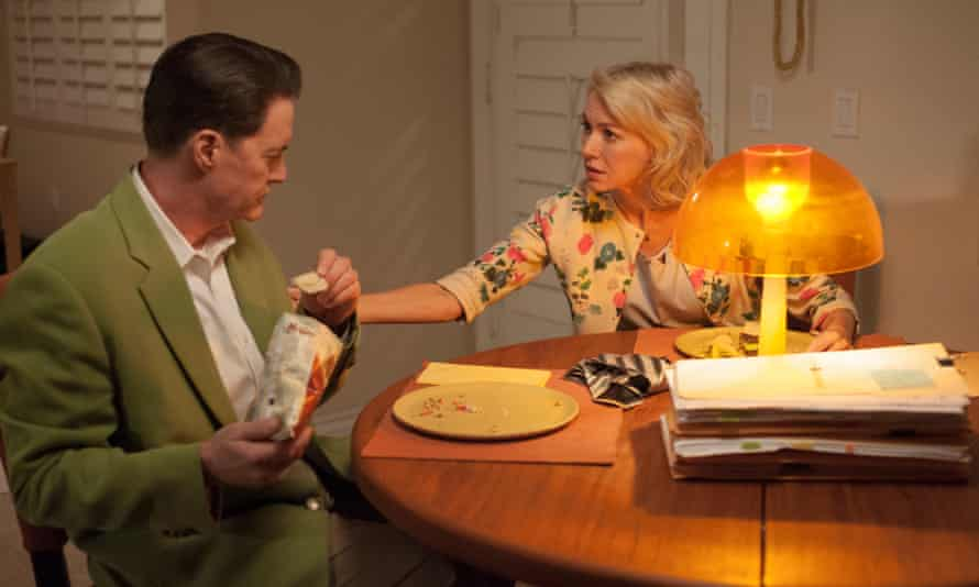 Kyle MacLachlan and Naomi Watts in the Twin Peaks revival. Photograph: Suzanne Tenner/Showtime