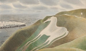 A detail from The Westbury Horse by Eric Ravilious.