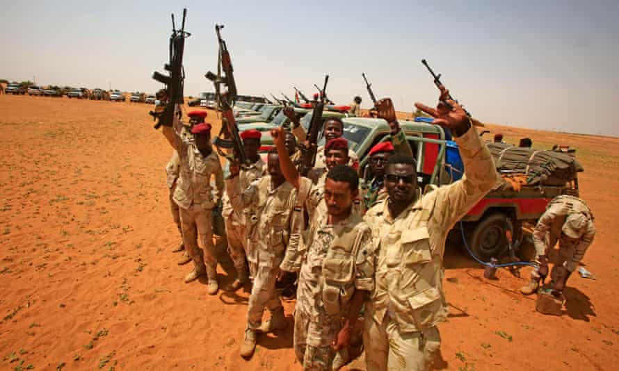 Members of the Sudanese paramilitary Rapid Support Forces