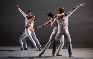 Lucid precision … Lyon Opera Ballet perform Lucinda Childs' work for Trois Grandes Fugues.