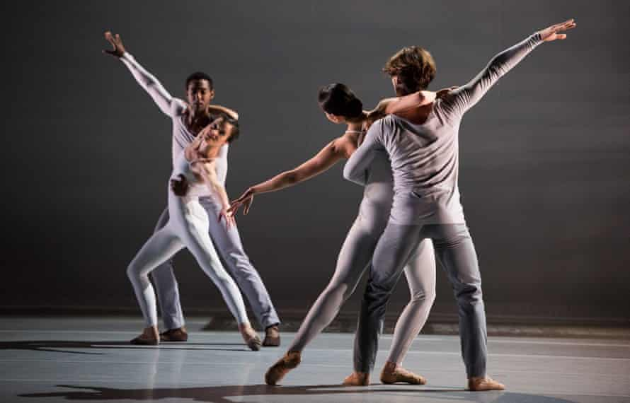 Lucid precision … Lyon Opera Ballet perform Lucinda Childs' work for Trois Grandes Fugues.