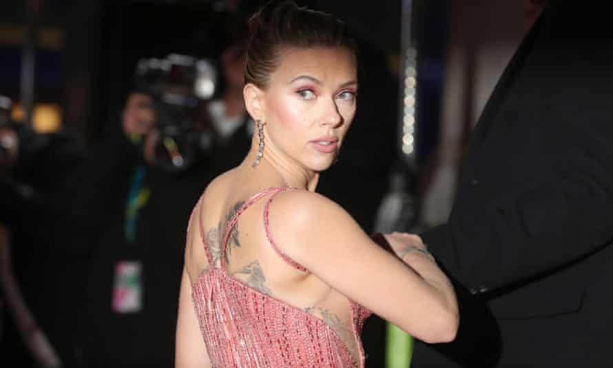 Scarlett Johansson at the Baftas.