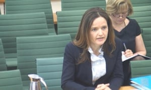 Screengrab of Charlotte Hogg at the Treasury select committee