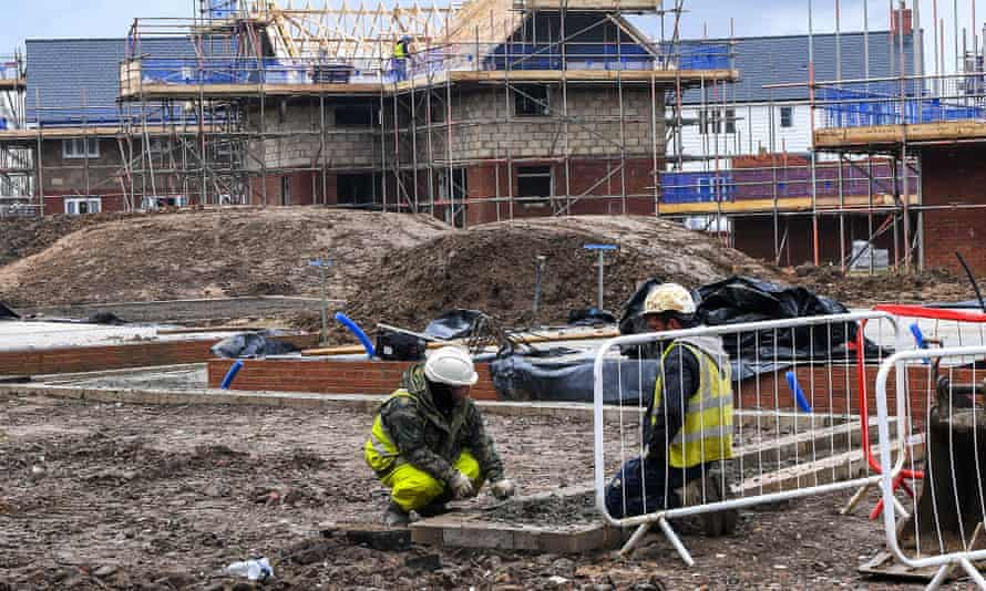 New homes being built in East Sussex in January.