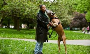 Elizabeth Webster and dog