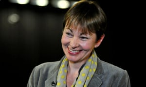 Caroline Lucas speaks after being re-elected to Brighton Pavilion