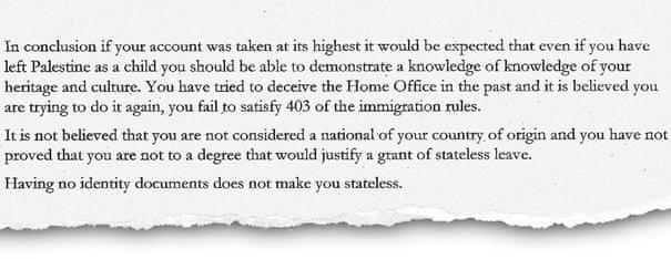 UK Home Office tells stateless man: go home   UK news   The