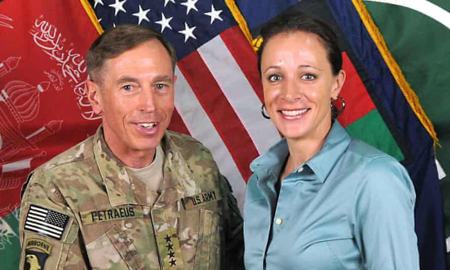 David Petraeus poses with his biographer Paula Broadwell, with whom he has admitted to having an affair.