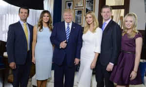 Donald Trump Jr, Melania, Ivanka, Eric and Tiffany all accompany Donald Trump on his visit to the UK.