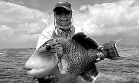 Martin Allday's biggest catch came during a saltwater fishing expedition in the Seychelles. He caught a huge trigger fish, which earned him the local nickname of Trigger King