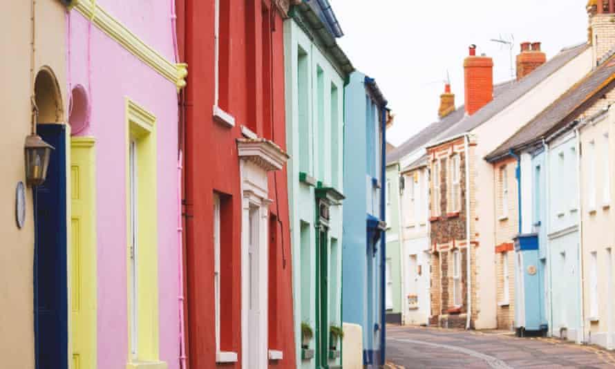 Colourful cottages in Devon