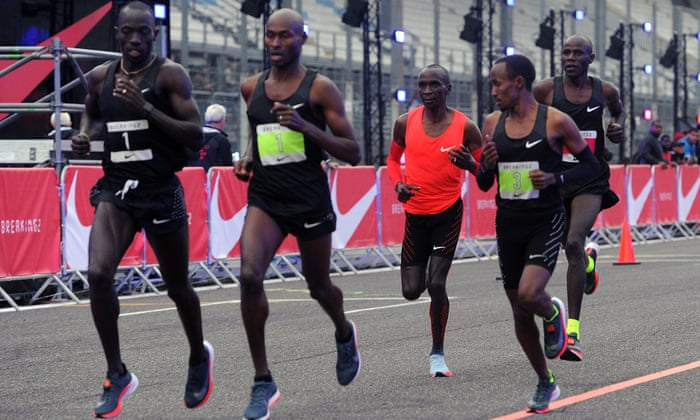 8043f4f49ddb Eliud Kipchoge falls short by 26 seconds but more  moonshots  ruled out