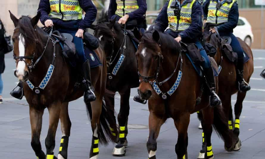 Mounted police in Sydney