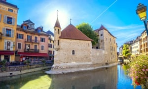 Annecy's ancient prison (now a museum) in its old town area.