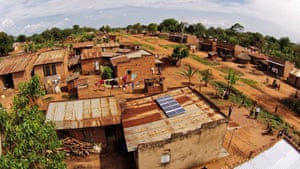 Aerial view of a SunFunder SolarNow project in Uganda