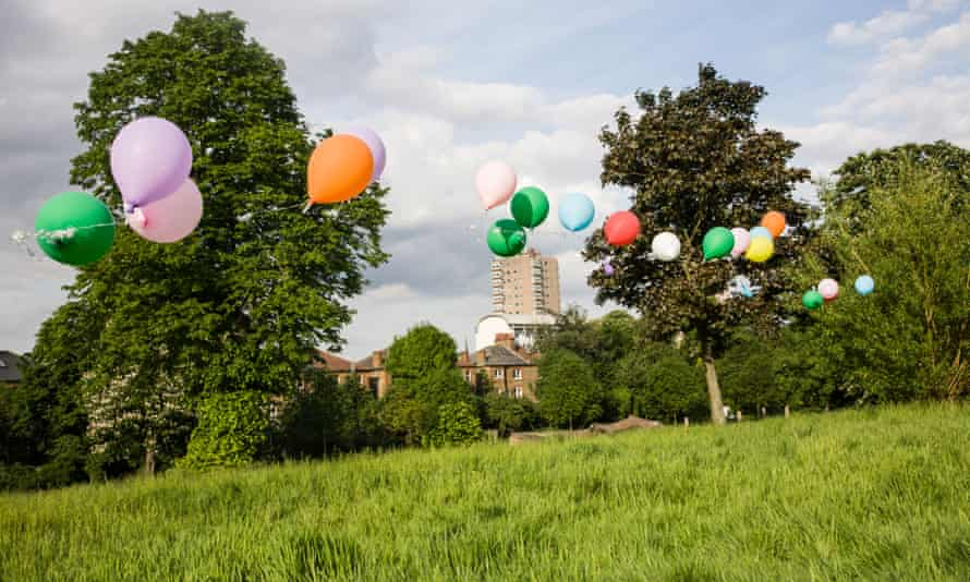 'One of the last / things he did / was to blow up / the children's balloons / for the birthday party ...'