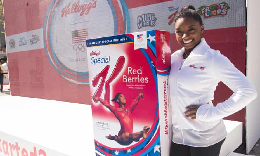 The US Olympic gymnast, Simone Biles, at a Kellogg's promotional event in New York
