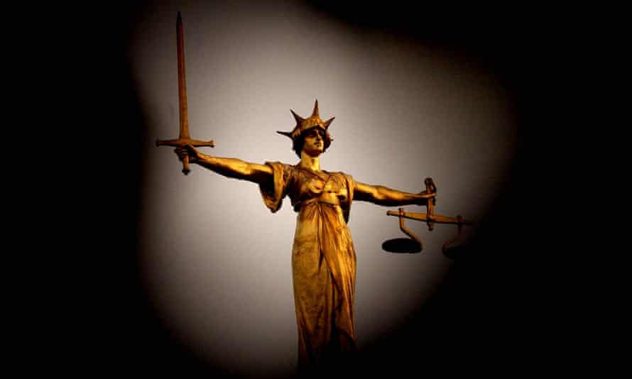 Scales of justice on the Old Bailey