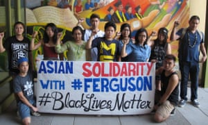 Asian Americans at UC Davis express solidarity with black lives matter and the people of Ferguson