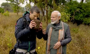 Narendra Modi and Bear Grylls in Mav vs. Wild.