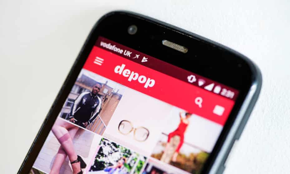 Depop app on a phone.
