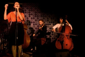 The music group Ecoute, which takes inspiration from Arabic-speaking culture, performs in a Jerusalem cafe.