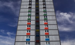 A block of local authority flats.