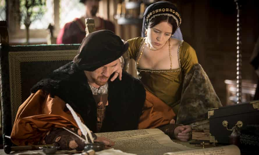 Damian Lewis and Claire Foy as Henry VIII and Anne Boleyn in the BBC's Wolf Hall.