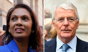 Gina Miller and John Major