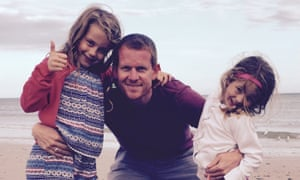 Stephen Holmes and his daughters.