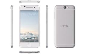 A silver HTC One A9