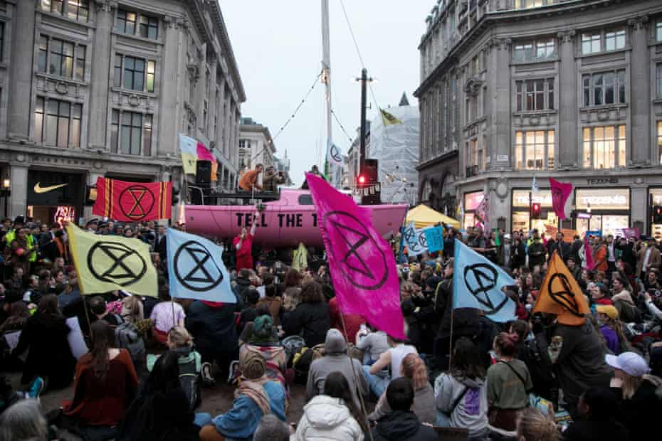 Arrests taking place in London's Oxford Circus in April